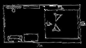 Схема студии на Варшавке в циклорамой